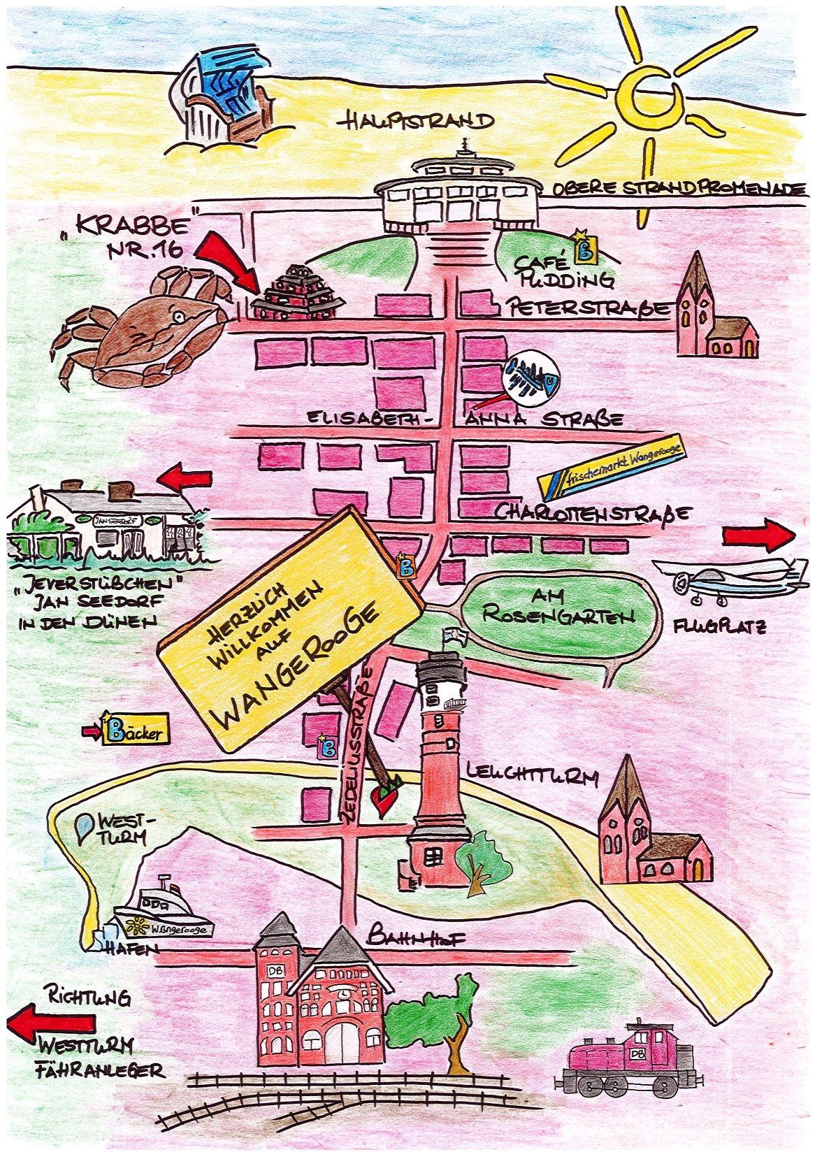 Lageplan Haus Krabbe