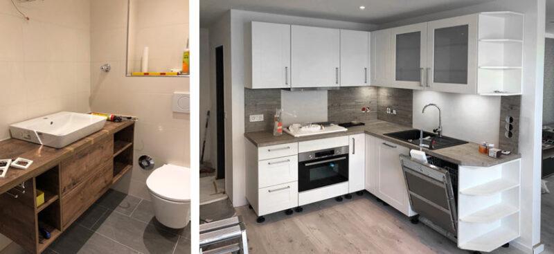 Küche und Bad Ferienwohnung Wangerooge
